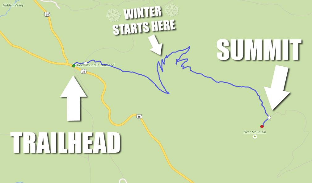 Deer Mountain Trail Map