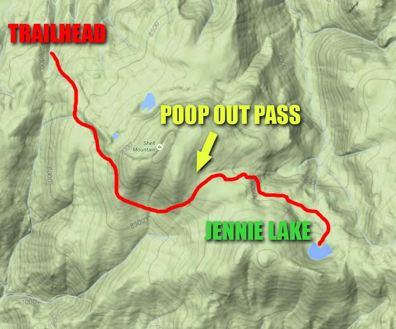 Jennie Lakes Map