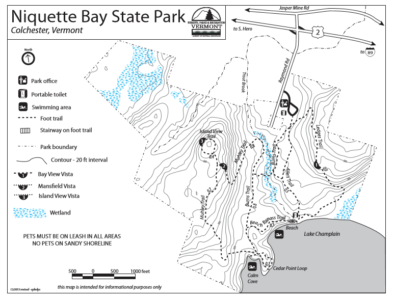 Niquette Bay State Park Map